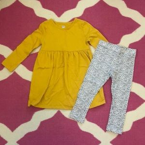 Old Navy dress and leggings set 3t